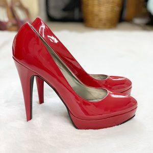 G by Guess Sexy Red Patent Stilettos Heels